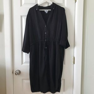 Old Navy Black Shirt Dress